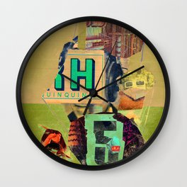 release five, meschugge with marx (commodity festishism) Wall Clock