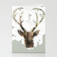 architect Stationery Cards featuring Deer Architect by Angelo Cerantola
