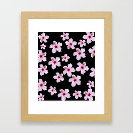 Tropical in black and pink Framed Art Print