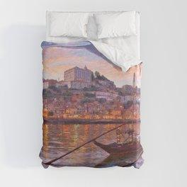 Porto at dusk Duvet Cover