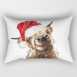 Christmas Highland Cow Rectangular Pillow