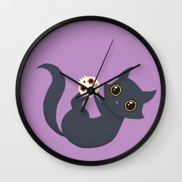 Kitty sugar skull Wall Clock