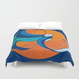 One with the sun Duvet Cover