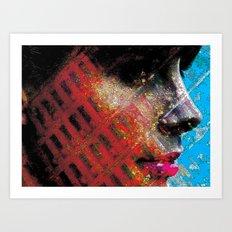 Grid Art Print