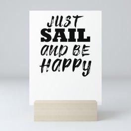 Sailor sailing Mini Art Print