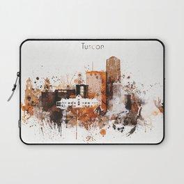 Brown Watercolor Tucson watercolor skyline Laptop Sleeve