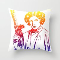 princess leia Throw Pillows featuring Princess Leia by mchlsrr