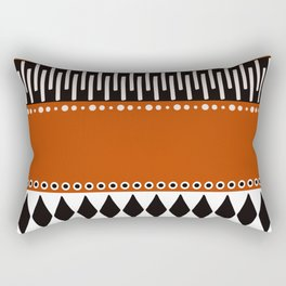 Bohemian orange, black&white tribal vibe Rectangular Pillow