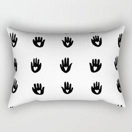 Heart Hands - graphic pattern Rectangular Pillow