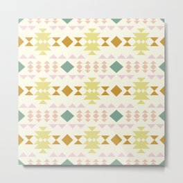 Earthy Pastels Modern Geometric Pattern Metal Print