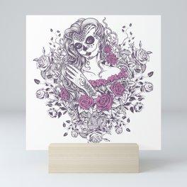 Sexy Woman zombie WITH Flower - KOBI Mini Art Print