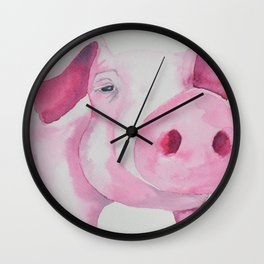 Fuchsia Piggy Wall Clock