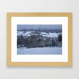 White Snowy Brotterode Framed Art Print