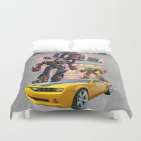 optimus prime Duvet Covers featuring Transformers autobot bumblebee optimus prime truck best for birthday and Christmas gift by customgift
