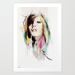 Her Impression Caught Art Print