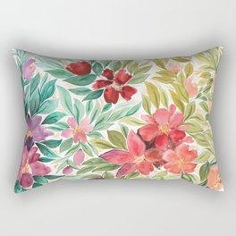 The Rainbow Floral Garden Rectangular Pillow