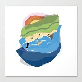 Sharkies Beach Surfing Canvas Print