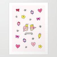 i heart you forever Art Print