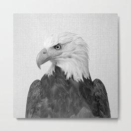 Eagle - Black & White Metal Print