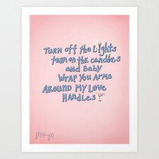 LOVE Handles Art Print
