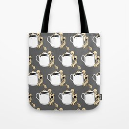 Death Before Decaf Mug Tote Bag
