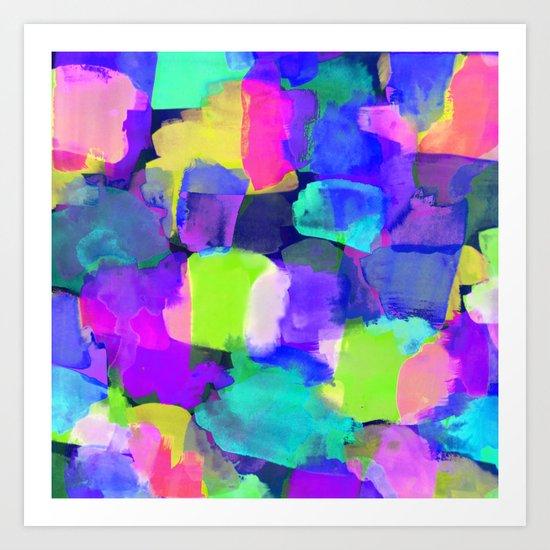 Brushstroke Blue Art Print