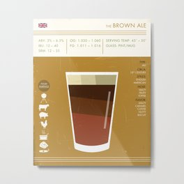 Brown Ale Art Print Metal Print