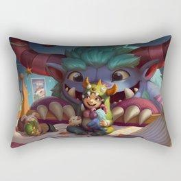 Grungy Nunu League Of Legends Rectangular Pillow