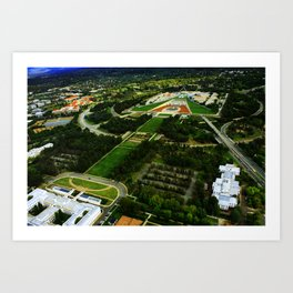 Canberra and Parliament Art Print