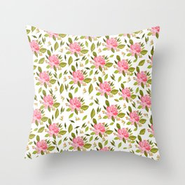 Pink Days Ahead Throw Pillow