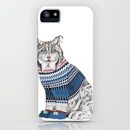 Christmas Lynx // Festive Furries No.1 iPhone Case