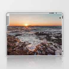 Sunset from rocky beach Laptop & iPad Skin
