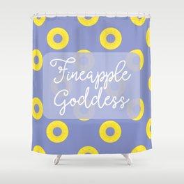 Fineapple Goddess Shower Curtain