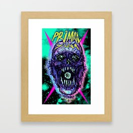Primal Screaming Skull Framed Art Print