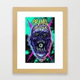 Primal Screaming Skull Framed Art Print