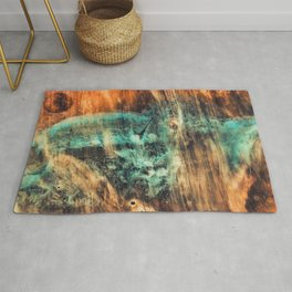 Riddick's world - watercolor painting Rug
