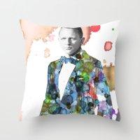 bond Throw Pillows featuring Bond, James Bond by NKlein Design