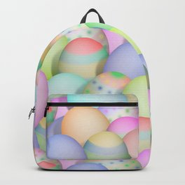Pastel Colored Easter Eggs Backpack