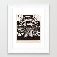 ouija Framed Art Prints featuring Ouija by Anke Verret