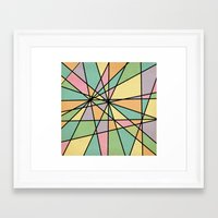 stained glass Framed Art Prints featuring Stained Glass by Tammy Kushnir
