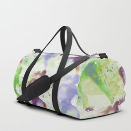 Watercolor women runner pattern Brown green blue Duffle Bag