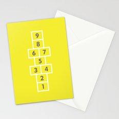 Hopscotch Yellow Stationery Cards