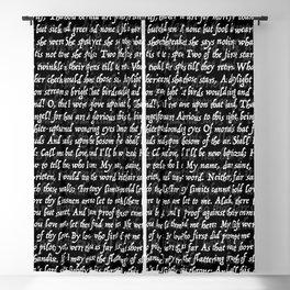 Love Letter Shakespeare Romeo & Juliet Pattern II Blackout Curtain