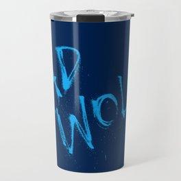 Doctor Who Bad Wolf Blue Travel Mug