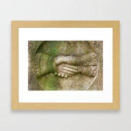 Tombstone Handshake Framed Art Print