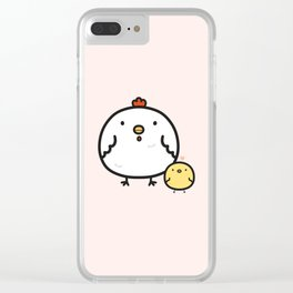 Cute chick and chicken Clear iPhone Case