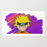 naruto Art Prints featuring Naruto by Abba Studios