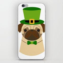 Kiss Me I'm Irish Saint Patrick's Day Pug Coffee Mug iPhone Skin