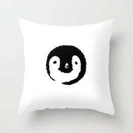 Baby Penguin Face Throw Pillow