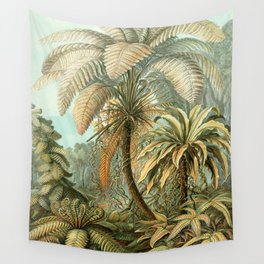 Vintage Tropical Palm Wall Tapestry